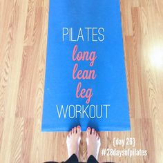 A 9 minute Pilates workout to shape and tone  your legs.  #youtube #workout #pilates
