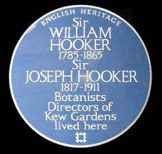 William & Joseph Hooker. Directores de los jardines botánicos Kew Gardens.  49 Kew Green Kew TW9 3AA.