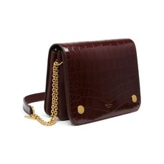 7fd7a6c1fdd0 Mulberry - Clifton in Burgundy Polished Embossed Croc Mulberry Clifton