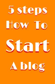 A beginners guide to starting a blog! Here are 5 quick steps on getting you started on your first blog! How To Start A Blog, How To Get, Create Website, Best Blogs, Remote, Blogging, Messages, Posts, Group