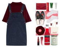 """""""Burgundy"""" by roses-are-beauty ❤ liked on Polyvore featuring Bobbi Brown Cosmetics, Miss Selfridge, Voluspa, Gucci, Oui, Dorothy Perkins, SK-II, Sunday Riley, Borghese and Tricot Comme des Garçons"""