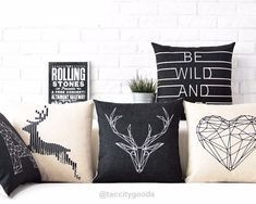 Nordic Style Decorative Throw Pillow Cases - Home Decor - Tac City Goods Co - 1 Link in the bio #DIYHomeDecor