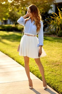 baby, blue, white, preppy, outfit