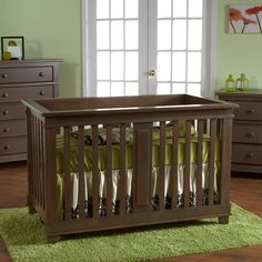 Pali Lucca Forever Crib Slate $449 @ Baby Grand
