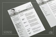 Ad: Resume/CV - Taylor by bilmaw creative on Resume / CV Template - Taylor --- This Resume/CV template is also included in the 'Job Hunter' discounted bundle, just click this link: Template Cv, Cover Letter Template, Letter Templates, Resume Templates, Business Brochure, Business Card Logo, Design Typography, Lettering, Portfolio Web