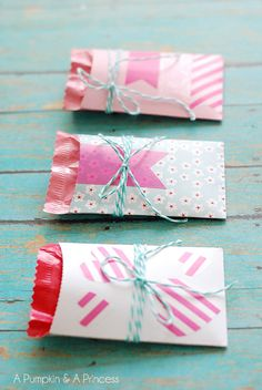 Baker's Twine and Washi Tape Gift Wrapping Wrapping Ideas, Wrapping Gift, Creative Gift Wrapping, Creative Gifts, Valentines Gifts For Boyfriend, Be My Valentine, Boyfriend Gifts, Valentine Gifts, Paper Packaging