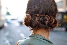 Cute hair...another take on my fave: the messy bun!