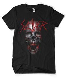 SLAYER Pentagram Logo Heavy Metal Rock Band Long Sleeve Black T-shirt Size S-3XL
