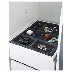 KOMPLEMENT Pull-out tray with insert IKEA Limited Warranty. Read about the terms in the Limited Warranty brochure. Pax Wardrobe, Wardrobe Ideas, Home Desk, Ikea Us, Design Your Life, Drawer Fronts, Walk In Closet, Ikea Hack, Gray