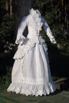 Fabulous antique fashion doll dress, French antique doll ...