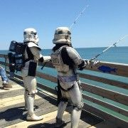 Storm Troopers fishing on Avalon Pier in #OBX for Star Wars Day. #maythe4thbewithyou