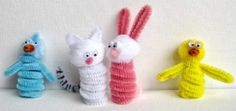Easy Easter Crafts: Easter Finger Puppets By Craft Jr. -- see more at LuxeFinds.com