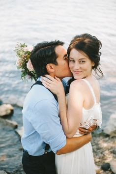 Intimate DIY Wedding // Jessica Bossé Photography-- the water, the self-pleased smirk. It's good