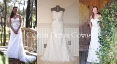 Romantic Allover Lace Strapless A-Line Wedding Gown with Sweetheart Neckline, Elegant Detachable Cap Sleeves, Beautiful Floral Belt, A-Line Lace Skirt, Court Train, Back Corset Close. #customdreamgowns #weddingdress #weddinggown #customdress #laceweddingdress #aline #sweetheart #courttrain #crystals #wedding #Lorieweddingdress #custommaggie