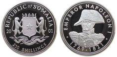 250 Shilling 2001 Somalia Republik Ag Napoleon Proof