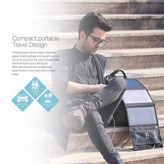 BlitzWolf® 20W 3A BW-L1 Foldable Portable SunPower Solar Charger USB Solar Panel Charger with Power3S for iPhone 6s / 6 / Plus, iPad Air / mini, Galaxy S6 and More Sale - Banggood.com