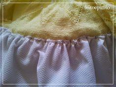 feitoepunto: Cómo coser una falda de tela a un cuerpo de punto Off Shoulder Blouse, Knitting, Women, Ideas, Fashion, Baby Dresses, Tela, Skirt Sewing, Wool Sweaters