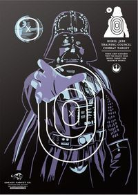 This is a series of rather well done Star Wars shooting targets created by Sneaky Studios. Paper Shooting Targets, Paper Targets, Star Wars Birthday, Star Wars Party, Rifles, Dark Side, Pistola Nerf, Range Targets, Anniversaire Star Wars