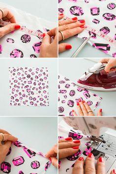 how to make a pocket square silk hankie....Dress to impress with a pocket square, bro.