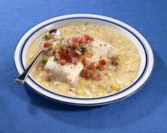 Poached Halibut With Corn Salad Recipe — Dishmaps