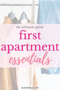 Moving out into your first apartment? Here is a list of the important first apartment essentials you'll need to be ready to move out on your own. Single Girl Apartment, First Apartment Checklist, First Apartment Essentials, Girls Apartment, Apartment Needs, My First Apartment, Apartment Living, Moving Into An Apartment, Apartment Hacks