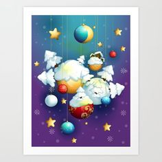 Christmas Spirit Art Print by texnotropio Spirited Art, Christmas Time, Art Prints, Art Impressions