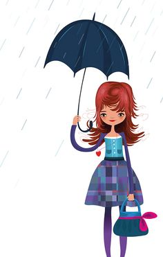 Dressing up for the rain...i <3 the rain