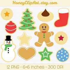 Holiday Cookie Clip Art | Chandeliers & Pendant Lights