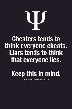 Cheaters/Liars