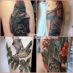 Tattoo Inspiration, Bat Tattoos, Body Art, Bats, Facebook, Body Mods