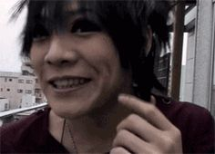 kai the gazette, funny, smile, dimples