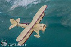 Waco Bi-Plane on a Fighter Pilot Sunshine Coast Australia adventure flight. Photography by Mark Greenmantle. Adventure Company, Coast Australia, Fighter Pilot, Sunshine Coast, Plane, Aircraft, Photography, Pilots, Aviation