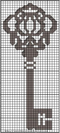 Free key cross stitch chart