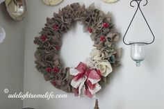 50 Burlap Christmas Decorations