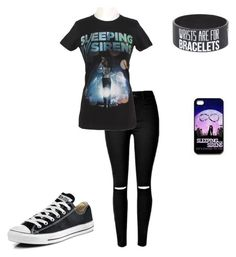 """""""Sleeping with Sirens"""" by musicqueen72 ❤ liked on Polyvore featuring Converse"""