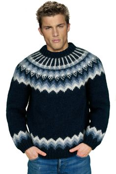 Yep Who wants to get tied up? Yep Who wants to get tied up? Gents Sweater, Sweater Jacket, Icelandic Sweaters, Wool Sweaters, Country Attire, Nordic Sweater, Fair Isle Knitting, Mens Jumpers, Sweater Design