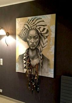 super Ideas for african art painting abstract African Wall Art, African Art Paintings, Art Mural Africain, African Interior Design, Urban Interior Design, Afrique Art, African Home Decor, Afro Art, African American Art
