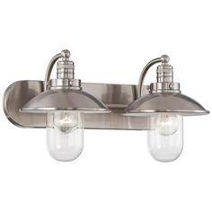 "Ellis Collection 18 1/2"" Wide Brushed Nickel Bathroom Light - #2Y638   LampsPlus.com"