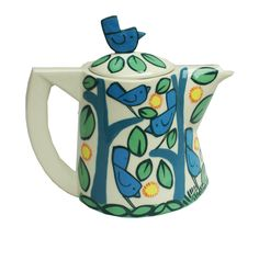 Beautiful handmade ceramic teapot - dishwasher and microwave safe and suitable for everyday use.