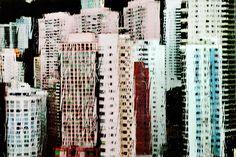 Honk Kong under the rain Christopher Jacrot Huile 5: 80x120 cm ed 12 / 90x135 cm ed 12