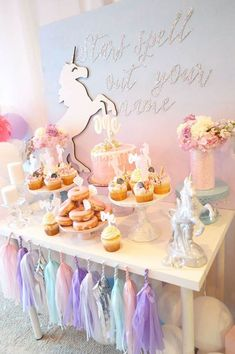 Magical Unicorn Party! - See more Rainbow Unicorn Party Ideas on B. Lovely Events