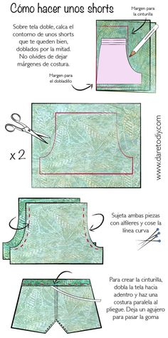 29 ideas for diy ropa pantalones manualidades Diy Clothing, Clothing Patterns, Sewing Patterns, Sewing Pants, Sewing Clothes, Techniques Couture, Sewing Techniques, Diy Pantalones Cortos, Sewing Tutorials