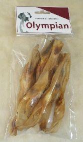 Kuivatut jäniksenkorvat (myydään 100g pussissa ainakin meidän paikallisessa Prismassa)