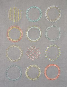 embroidery sampler from Purl Soho
