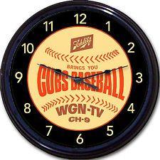 "Chicago Cubs Schlitz ""Beer Coaster"" Clock Wrigley Field Baseball Man Cave 10"""