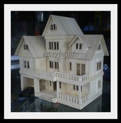 Multi-level house (made from popsicle sticks)