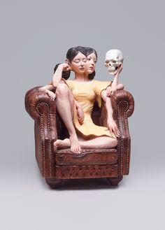 GlitchwoodensculpturePaulKaptein Paul Kaptein An - Taiwanese artist creates wooden sculptures that look like digital glitches