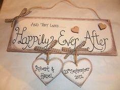 Handmade Wooden 'WEDDING, ENGAGEMENT' plaque, keepsake - gift | eBay #woodenweddinggifts