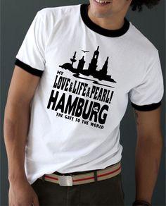 COOLES HAMBURG MY LOVE+LIFE+PEARL FUSSBALL FREIZEIT T-SHIRT + BEANIE IN SCHWARZ!