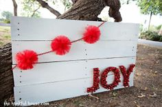 25 DIY Christmas Decorations.. On this one you could change the word!